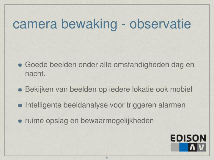 camera bewaking - observatie
