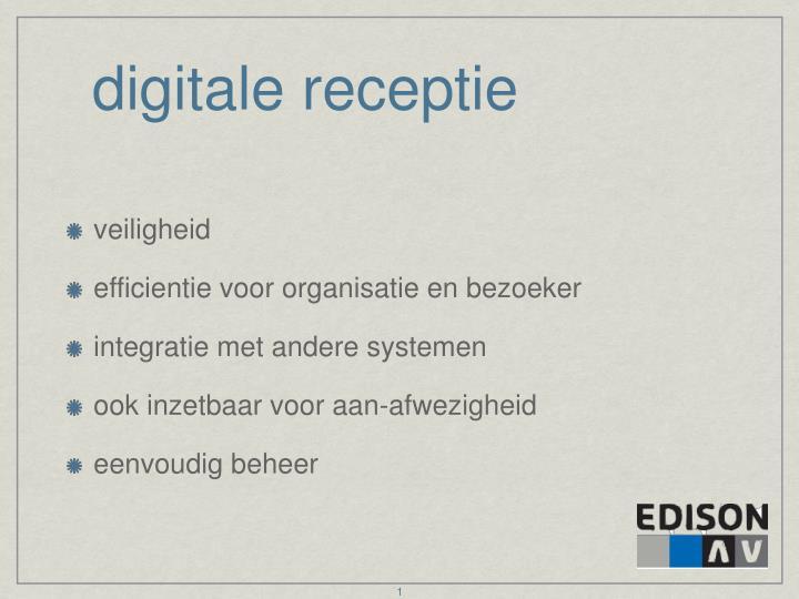 digitale receptie