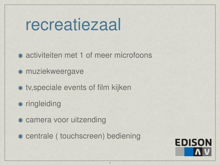 recreatiezaal