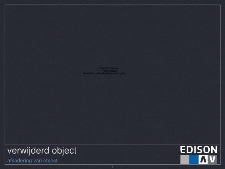 verwijderd object