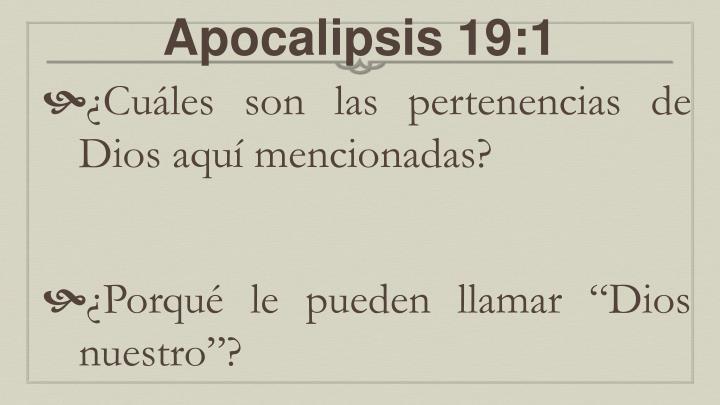 Apocalipsis 19:1