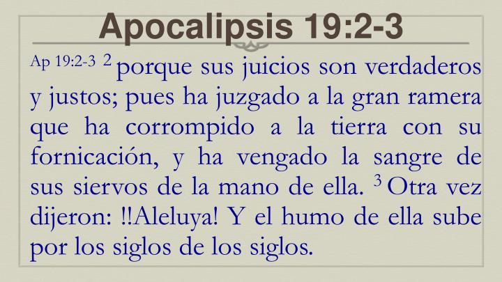 Apocalipsis 19:2-3