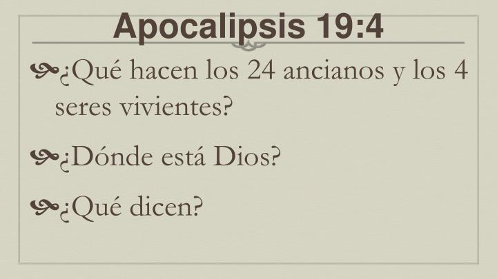 Apocalipsis 19:4
