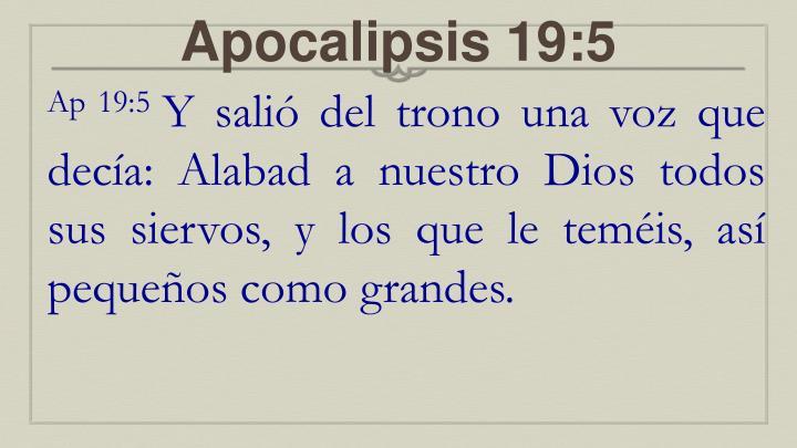 Apocalipsis 19:5