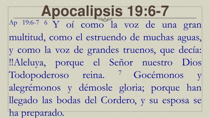 Apocalipsis 19:6-7