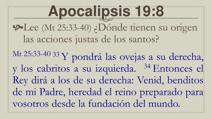 Apocalipsis 19:8
