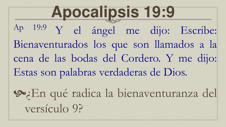 Apocalipsis 19:9
