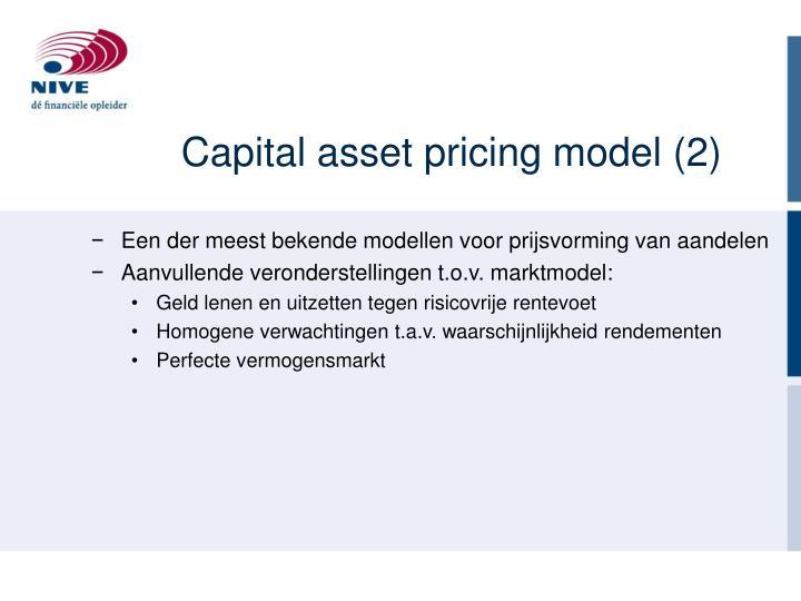 Capital asset pricing model (2)