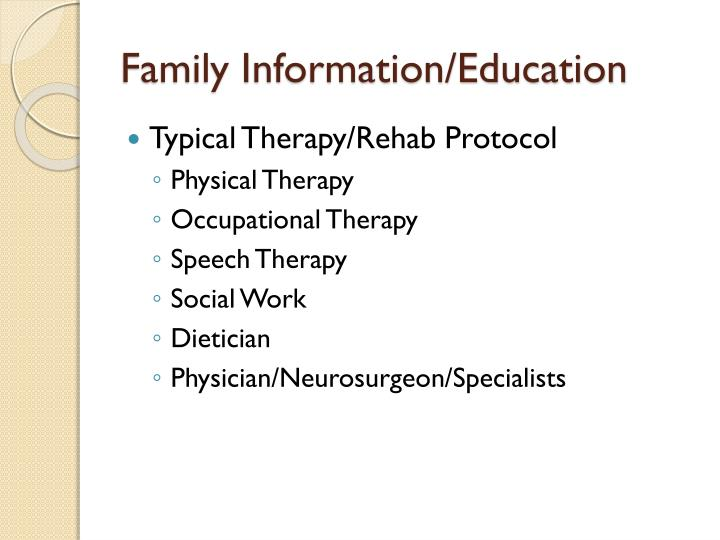 Family Information/Education