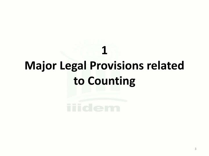 1 major legal provisions related to counting