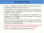 declaration of result3