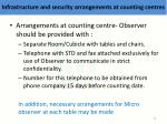 i nfrastructure and security arrangements at counting centres2