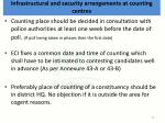 infrastructural and security arrangements at counting centres