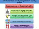 infrastructural and security arrangements at counting centres3