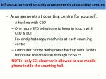 infrastructure and security arrangements at counting centres2