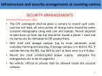 infrastructure and security arrangements at counting centres5