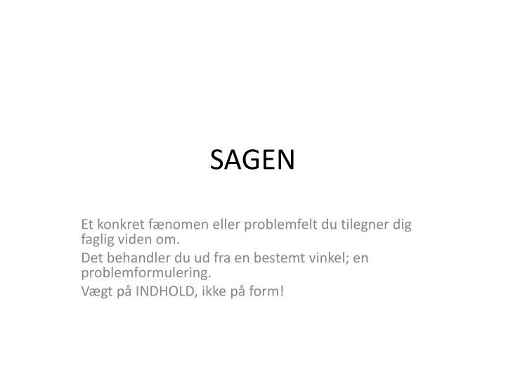 SAGEN