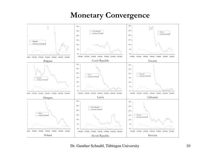 Monetary Convergence