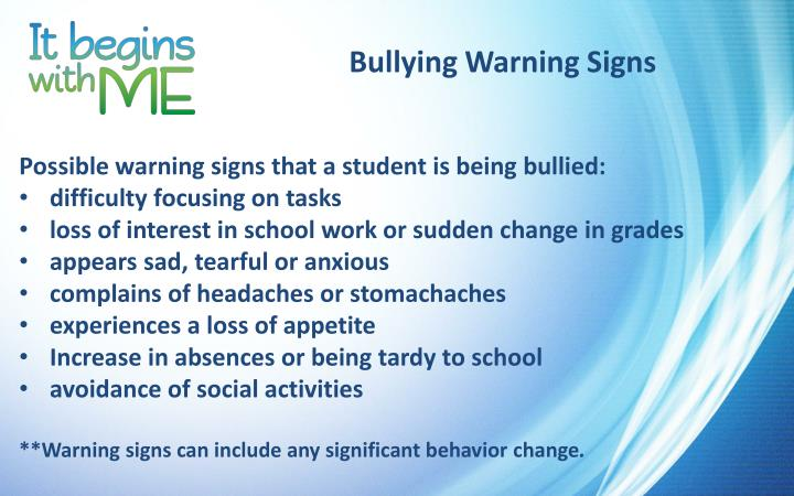 Bullying Warning Signs