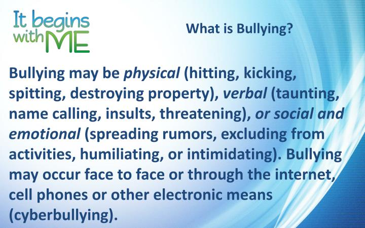 What is bullying1