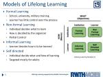 models of lifelong learning