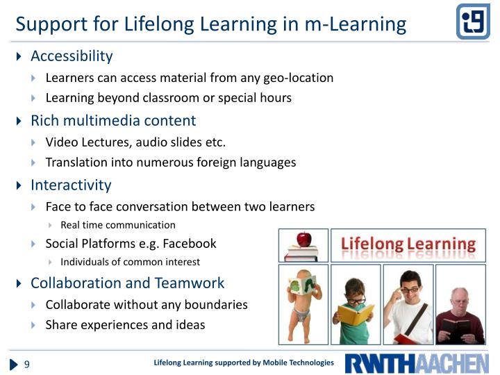 Support for Lifelong Learning in m-Learning