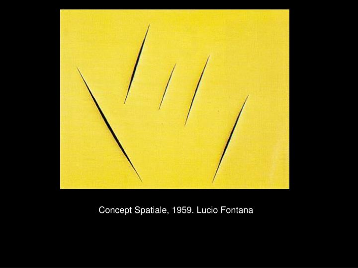 Concept Spatiale, 1959. Lucio Fontana