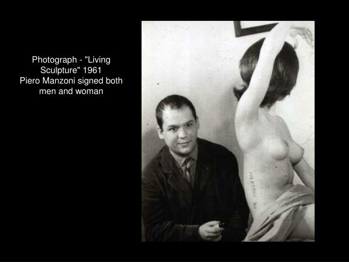 "Photograph - ""Living Sculpture"" 1961"