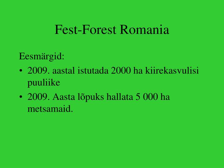 Fest-Forest Romania