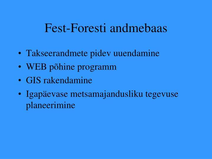 Fest-Foresti andmebaas