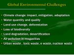 global environmental challenges