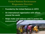 united nations environment programme overview