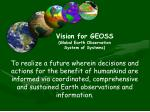 vision for geoss global earth observation system of systems