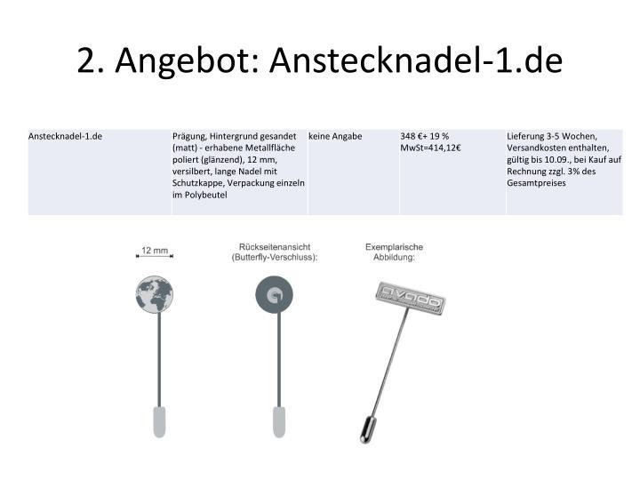 2. Angebot: Anstecknadel-1.de