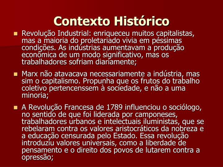Contexto Histórico