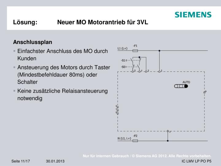 Lösung:Neuer MO Motorantrieb für 3VL