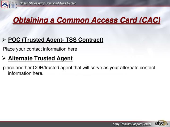 Obtaining a common access card cac