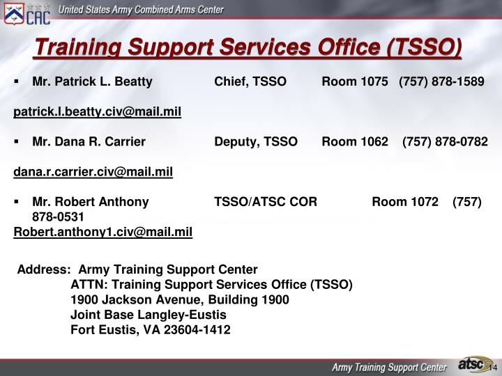 Training Support Services Office (TSSO)