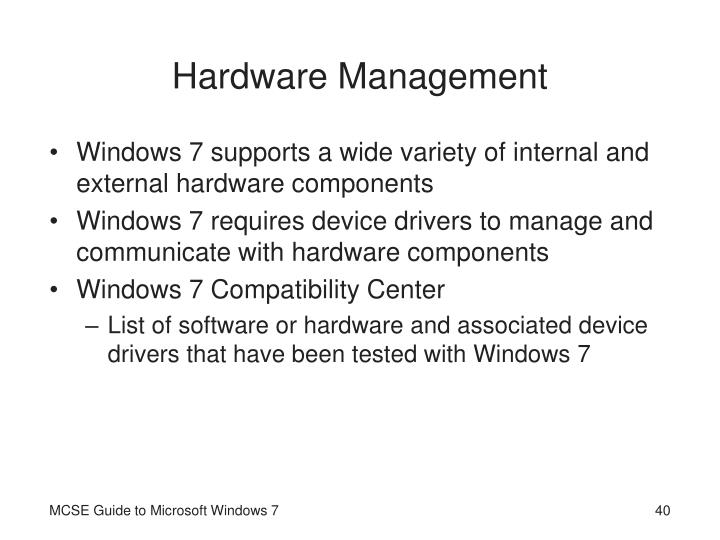 Hardware Management