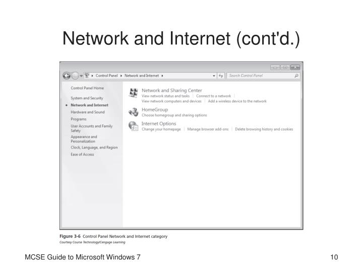 Network and Internet (cont'd.)