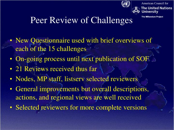 Peer Review of Challenges