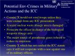 potential env crimes in military actions and the icc