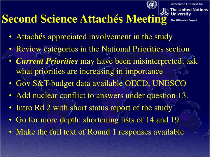 Second Science Attachés Meeting