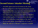 second science attach s meeting