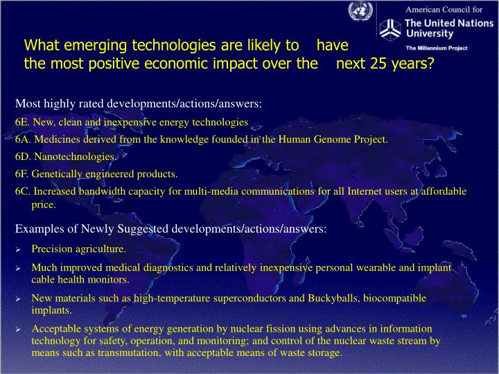 What emerging technologies are likely to have