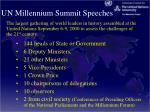 un millennium summit speeches
