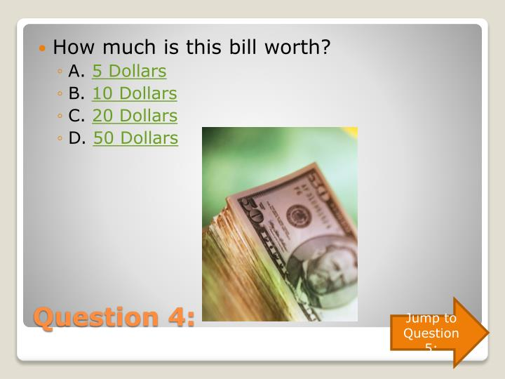 How much is this bill worth?