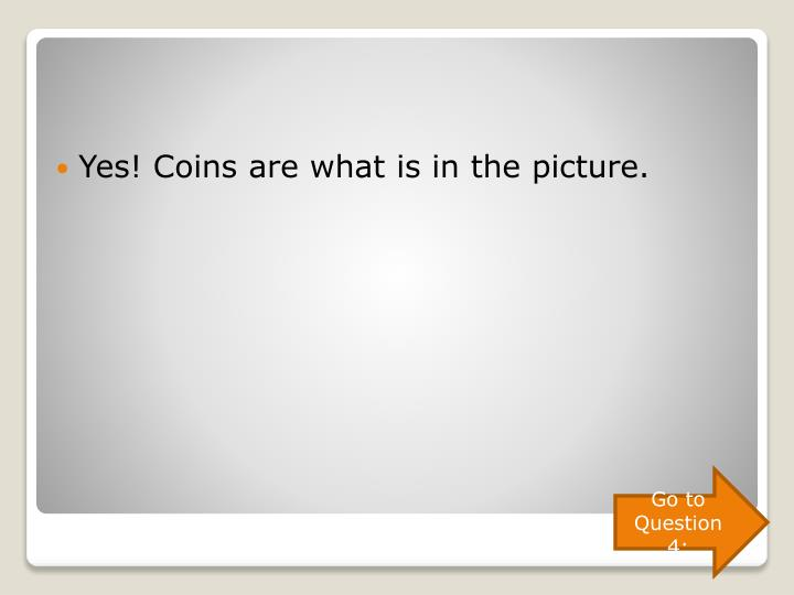 Yes! Coins are what is in the picture.