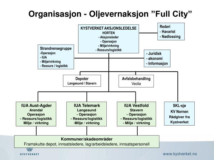Organisasjon - Oljevernaksjon