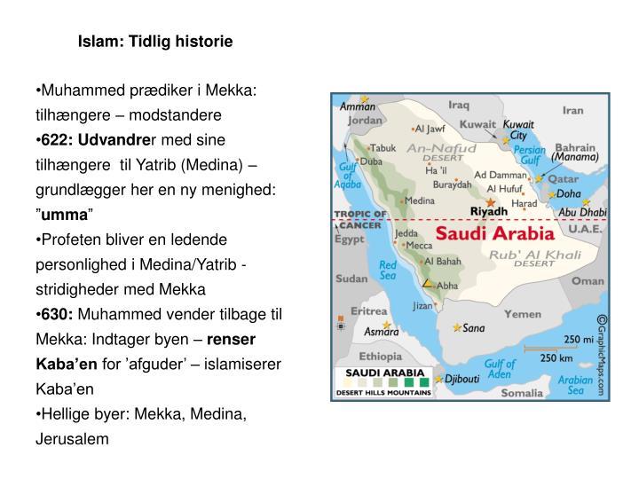 Islam: Tidlig historie